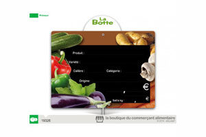 etiquette prix fruits et légumes